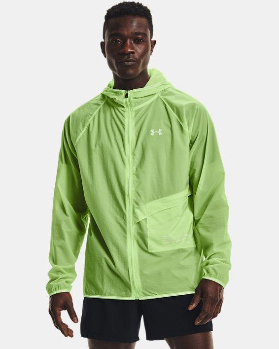 Men's UA Qualifier Storm Packable Jacket, Green, pdpMainDesktop image number 1