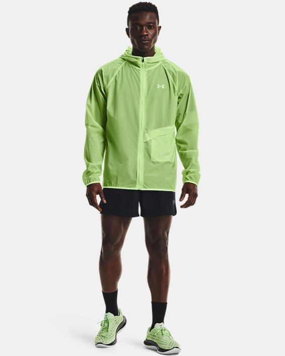 Men's UA Qualifier Storm Packable Jacket, Green, pdpMainDesktop image number 0