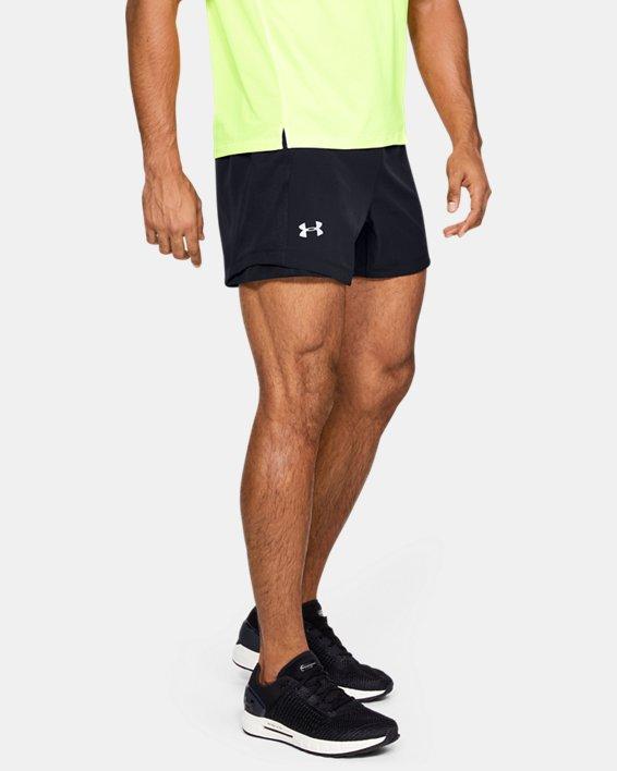 Men's UA Qualifier Speedpocket 5'' Shorts, Black, pdpMainDesktop image number 0