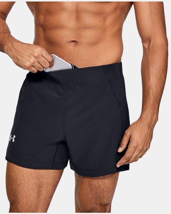 Men's UA Qualifier Speedpocket 5'' Shorts, Black, pdpMainDesktop image number 5