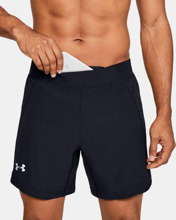 Short UA Qualifier Speedpocket 18cm pour homme, Black, pdpMainDesktop image number 5