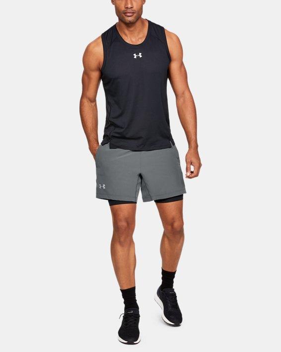 Men's UA Qualifier Speedpocket 2-in-1 Shorts, Gray, pdpMainDesktop image number 1