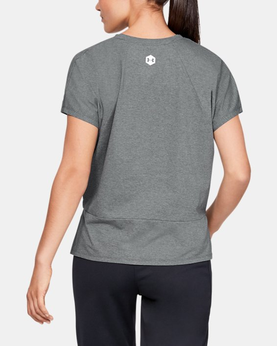 Women's UA RECOVER™ T-Shirt, Gray, pdpMainDesktop image number 2