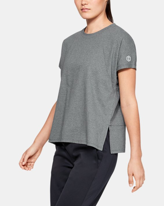 Women's UA RECOVER™ T-Shirt, Gray, pdpMainDesktop image number 0