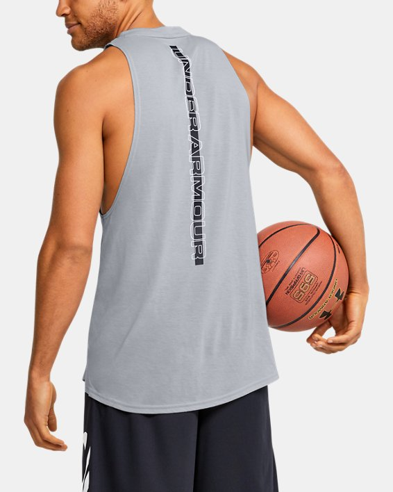 Men's UA Baseline Performance Tank, Gray, pdpMainDesktop image number 2