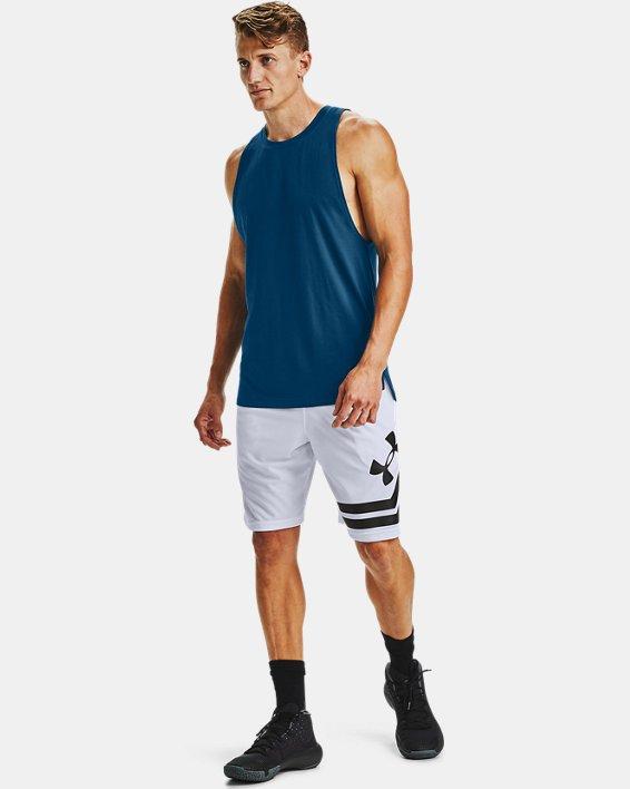 Men's UA Baseline Cotton Tank, Blue, pdpMainDesktop image number 1