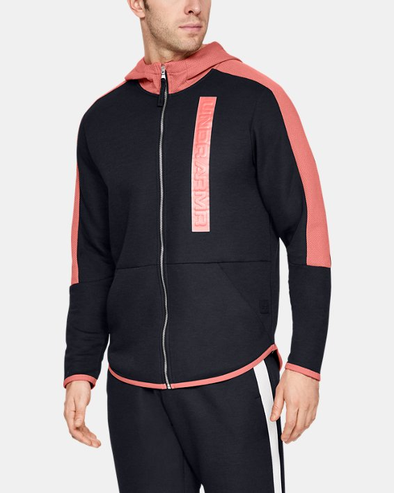 Men's UA Pursuit /MOVE Full Zip Hoodie, Black, pdpMainDesktop image number 0