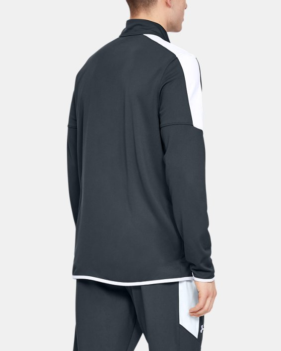 Men's UA Rival Knit Jacket, Gray, pdpMainDesktop image number 2