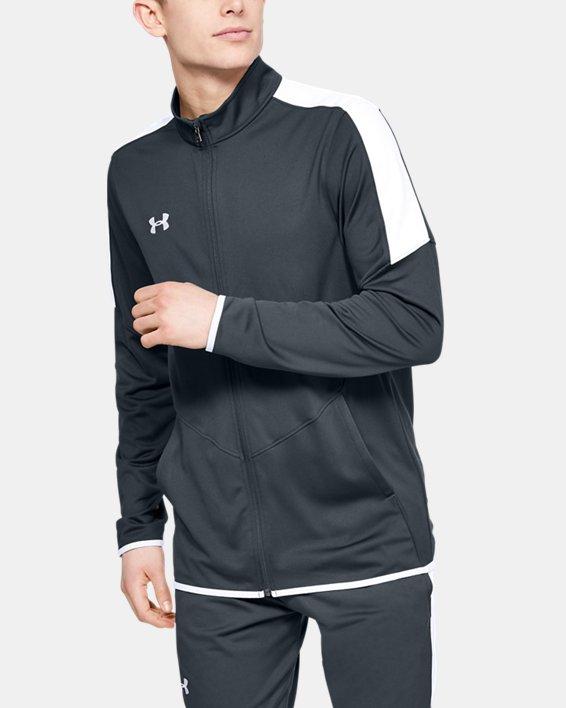 Men's UA Rival Knit Jacket, Gray, pdpMainDesktop image number 0
