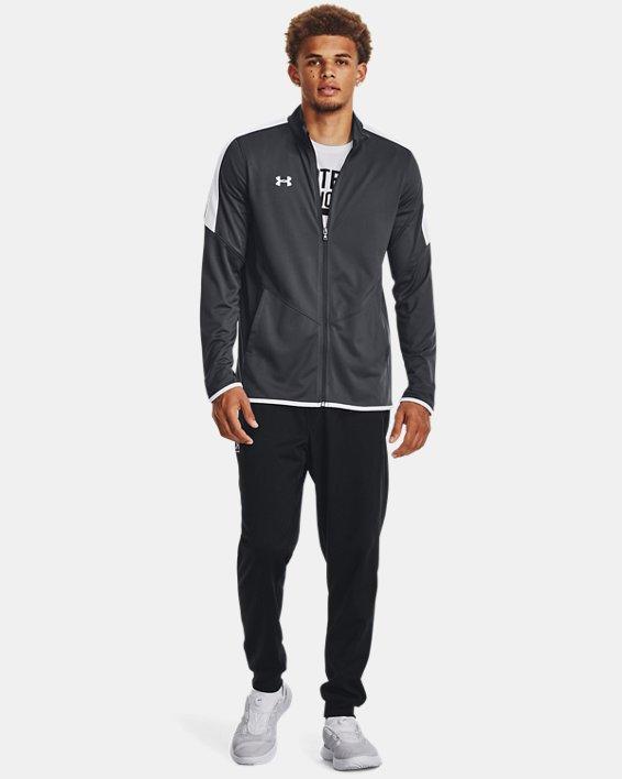 Men's UA Rival Knit Jacket, Gray, pdpMainDesktop image number 1