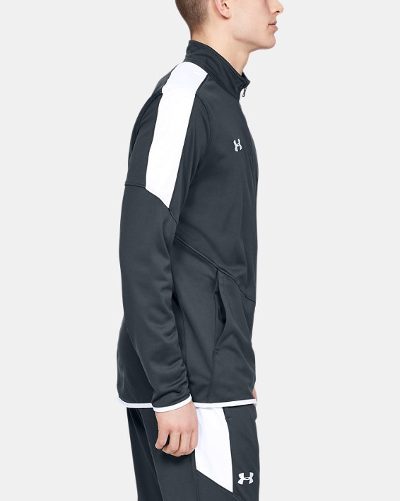 Men's UA Rival Knit Jacket, Gray, pdpMainDesktop image number 3