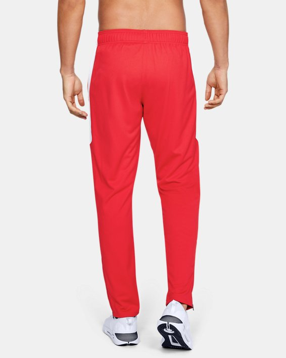Men's UA Rival Knit Pants, Red, pdpMainDesktop image number 3