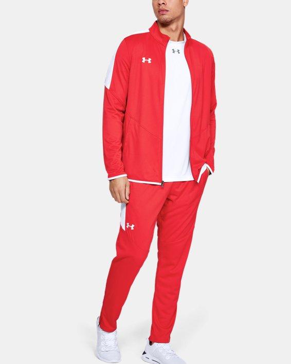 Men's UA Rival Knit Pants, Red, pdpMainDesktop image number 1