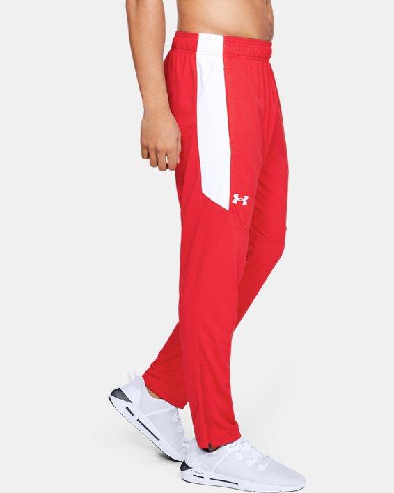 Men's UA Rival Knit Pants, Red, pdpMainDesktop image number 0
