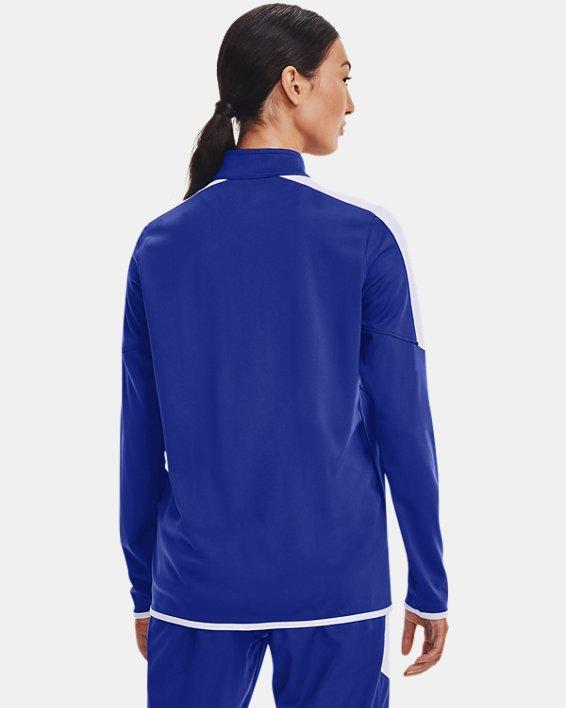 Women's UA Rival Knit Jacket, Blue, pdpMainDesktop image number 2