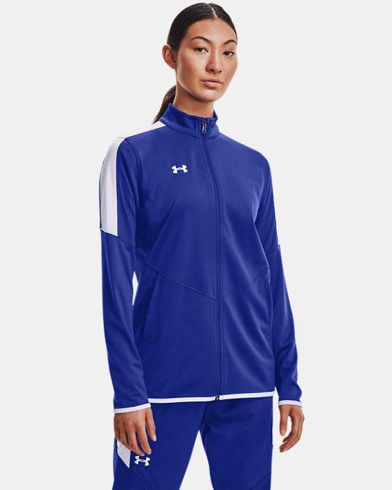 Women's UA Rival Knit Jacket, Blue, pdpMainDesktop image number 1