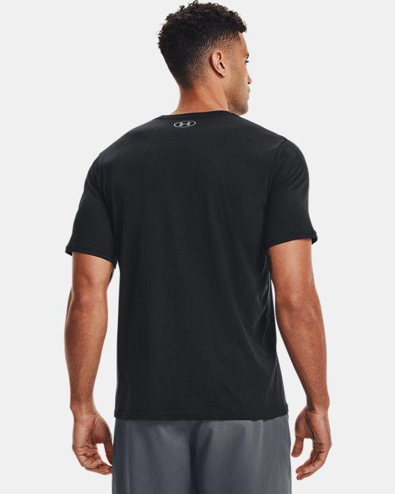 Men's UA Sportstyle Left Chest Short Sleeve Shirt, Black, pdpMainDesktop image number 2
