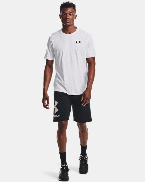 Men's UA Sportstyle Left Chest Short Sleeve Shirt, White, pdpMainDesktop image number 1