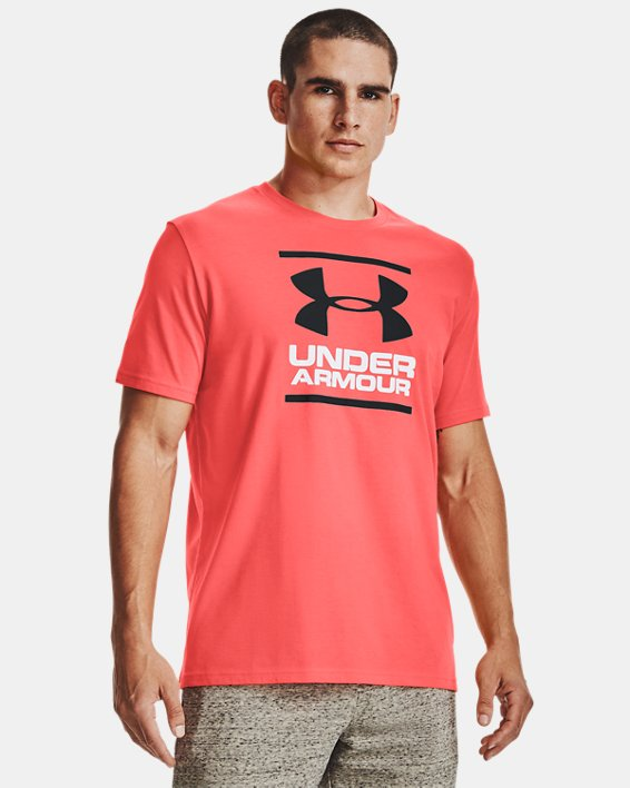 Men's UA GL Foundation Short Sleeve T-Shirt, Red, pdpMainDesktop image number 0