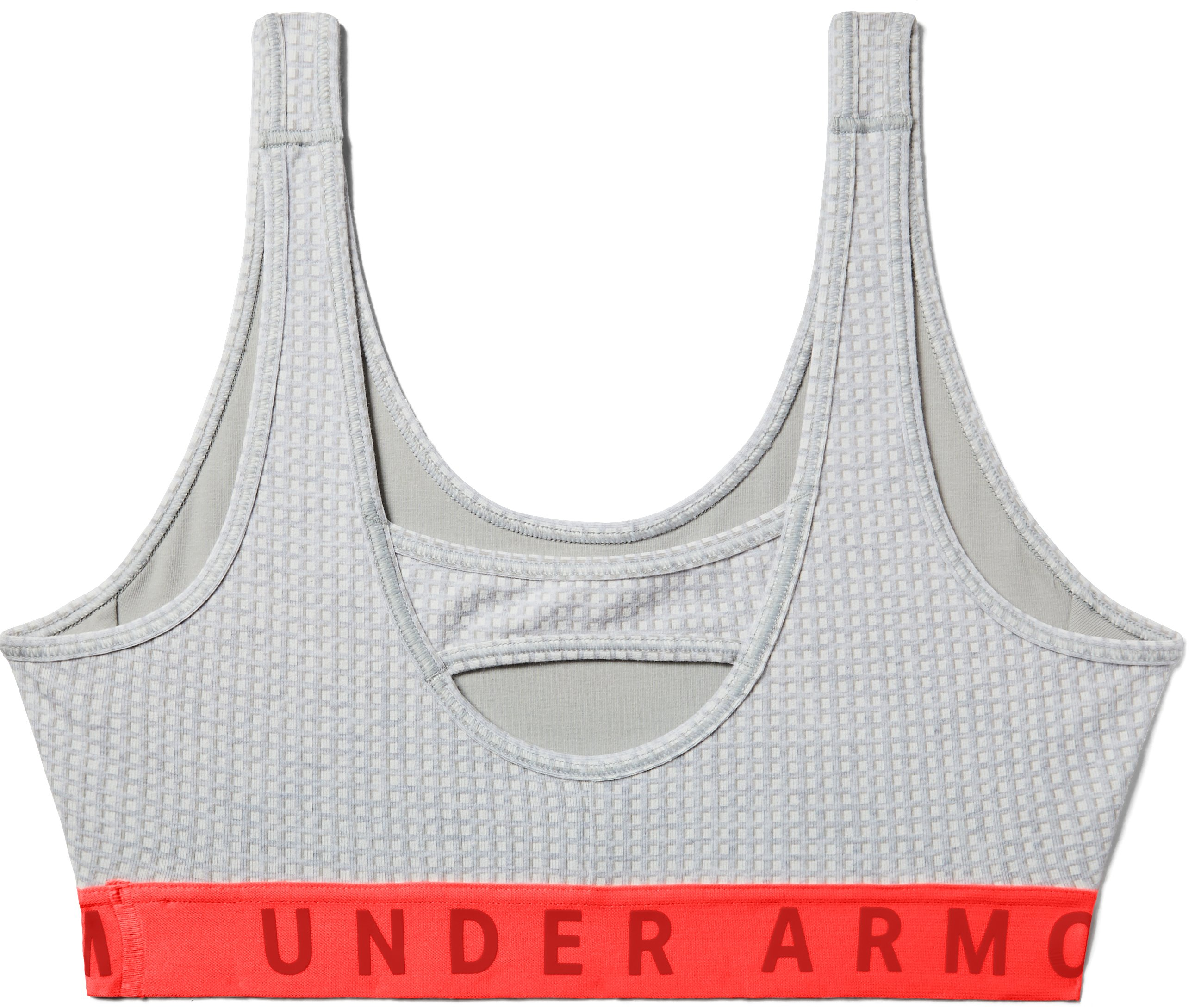 Women's UA Favorite Everyday Heather Print Sports Bra, Steel Full Heather,