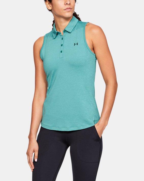 Women's UA Zinger Sleeveless Polo, Blue, pdpMainDesktop image number 0