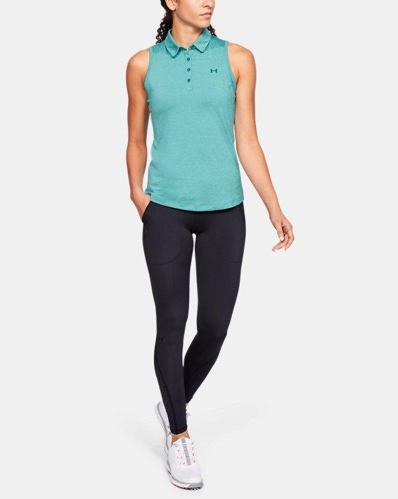 Women's UA Zinger Sleeveless Polo, Blue, pdpMainDesktop image number 1