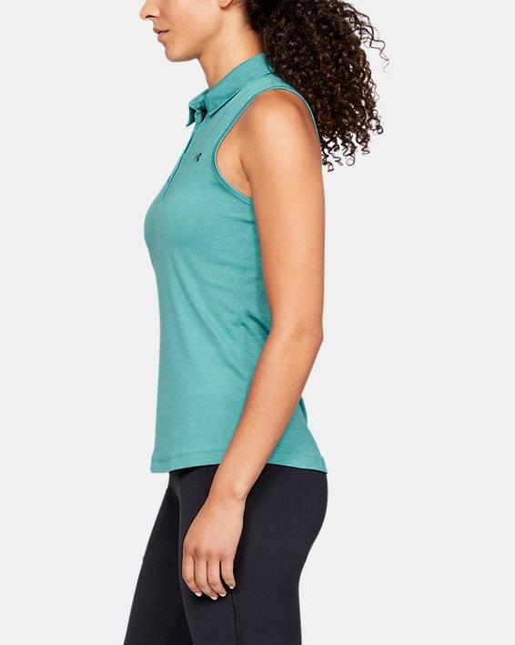 Women's UA Zinger Sleeveless Polo, Blue, pdpMainDesktop image number 3