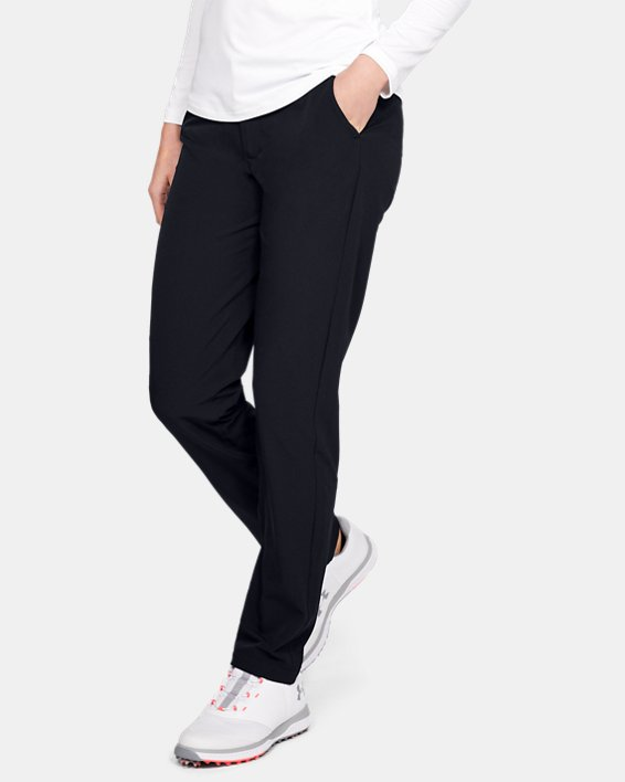Women's UA Links Pants, Black, pdpMainDesktop image number 0