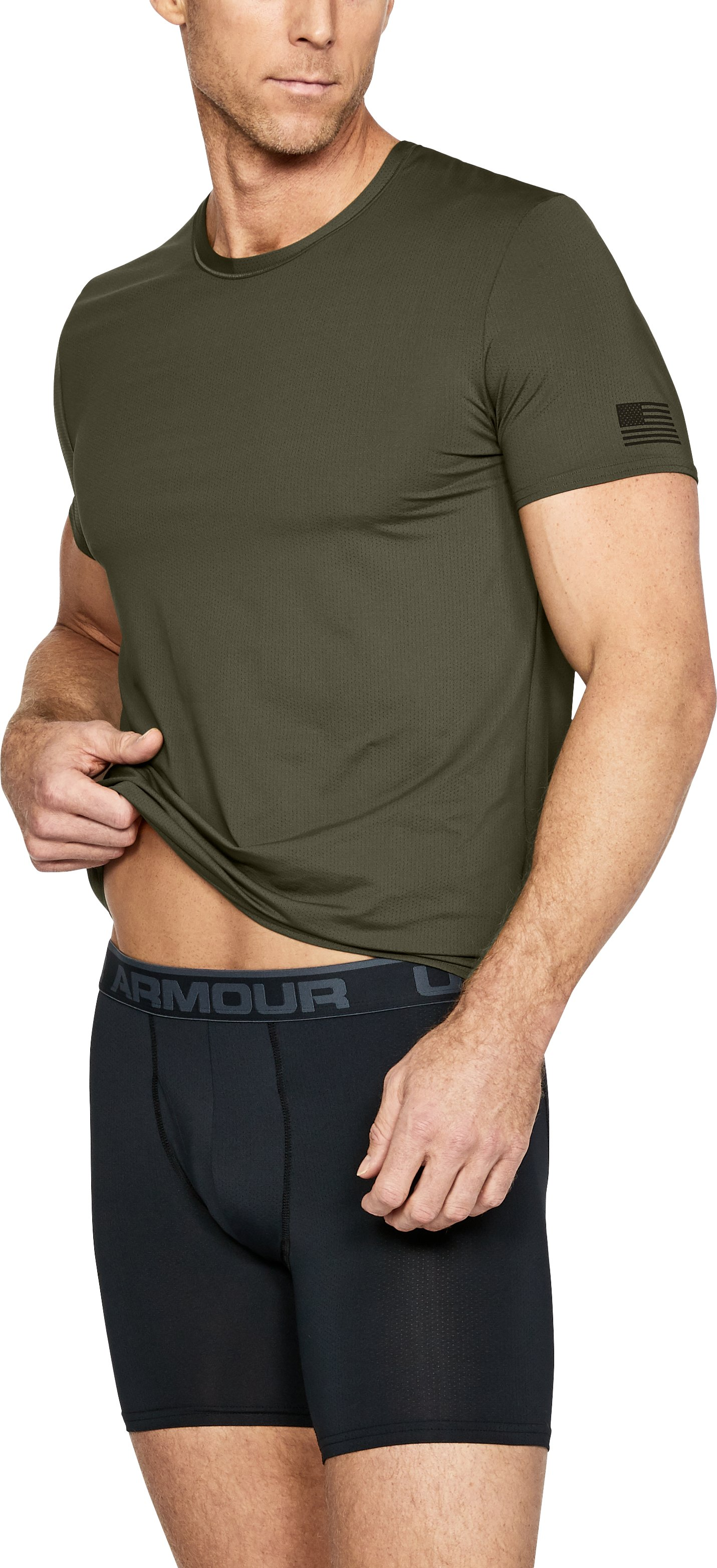 Men's UA Undershirt + Boxerjock® Set, Marine OD Green,