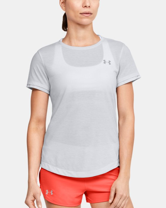 Women's UA Streaker Short Sleeve, Gray, pdpMainDesktop image number 2