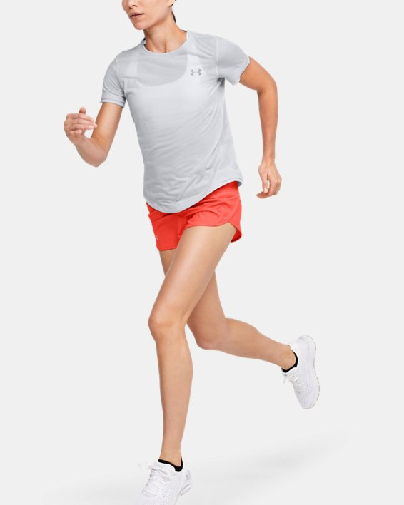 Women's UA Streaker Short Sleeve, Gray, pdpMainDesktop image number 1