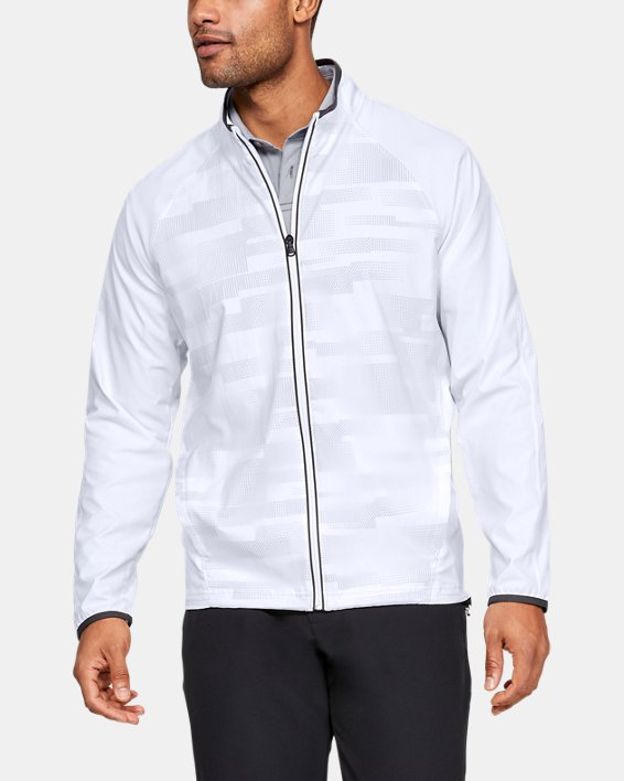 Men's UA Storm Windstrike Full Zip Jacket, White, pdpMainDesktop image number 0