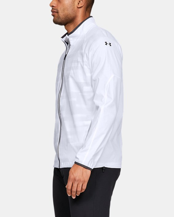 Men's UA Storm Windstrike Full Zip Jacket, White, pdpMainDesktop image number 3