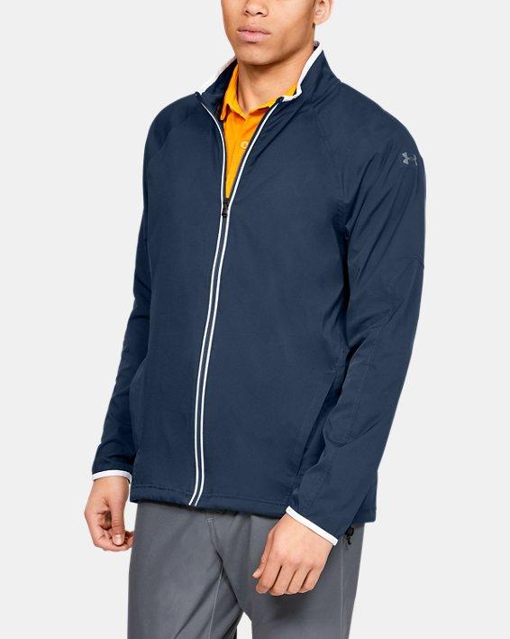 Men's UA Storm Windstrike Full Zip Jacket, Navy, pdpMainDesktop image number 0
