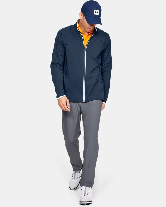 Men's UA Storm Windstrike Full Zip Jacket, Navy, pdpMainDesktop image number 7