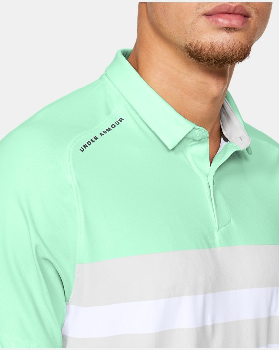 Men's UA Iso-Chill Block Polo, Green, pdpMainDesktop image number 6