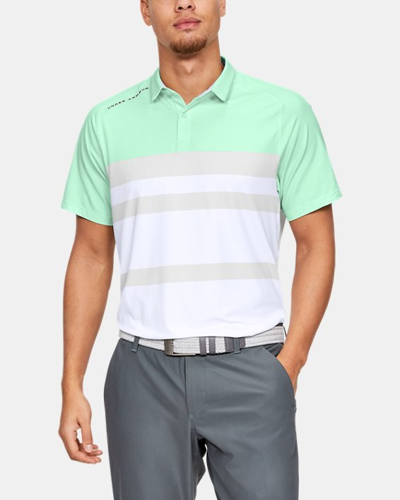 Men's UA Iso-Chill Block Polo, Green, pdpMainDesktop image number 0