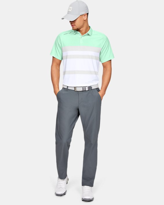 Men's UA Iso-Chill Block Polo, Green, pdpMainDesktop image number 7