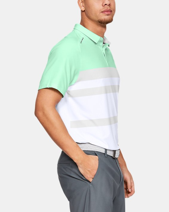 Men's UA Iso-Chill Block Polo, Green, pdpMainDesktop image number 3