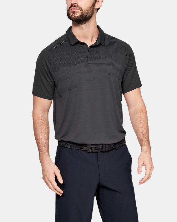 Men's UA Iso-Chill Airlift Polo, Gray, pdpMainDesktop image number 0