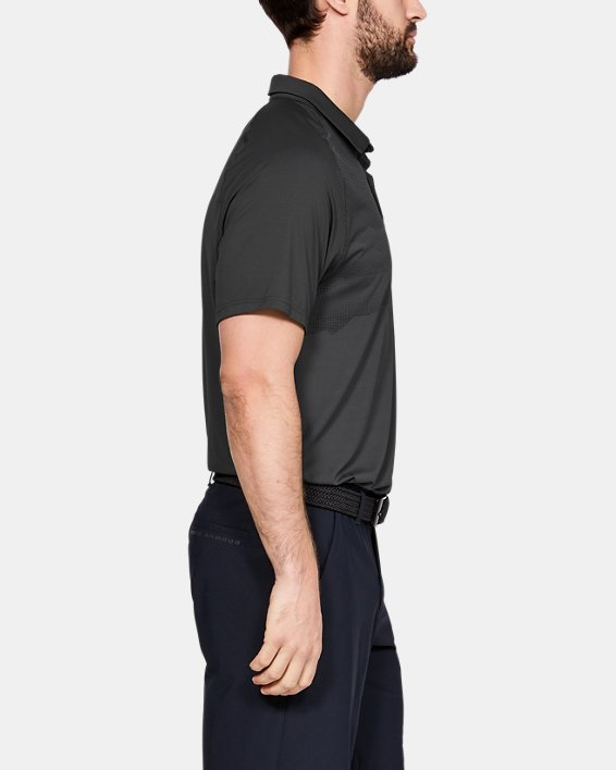 Men's UA Iso-Chill Airlift Polo, Gray, pdpMainDesktop image number 3