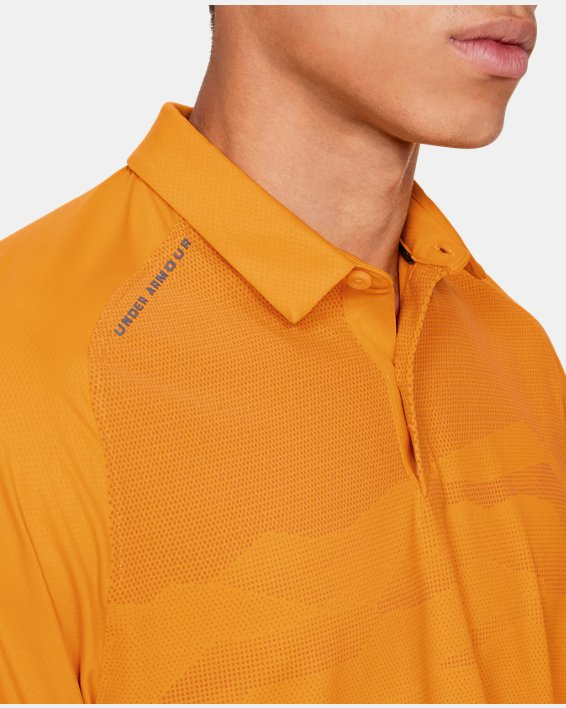 Men's UA Iso-Chill Airlift Polo, Orange, pdpMainDesktop image number 6
