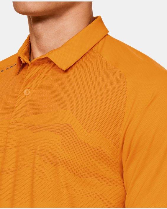 Men's UA Iso-Chill Airlift Polo, Orange, pdpMainDesktop image number 7