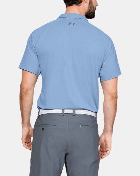 Polo UA Iso-Chill Airlift pour homme, Blue, pdpMainDesktop image number 2