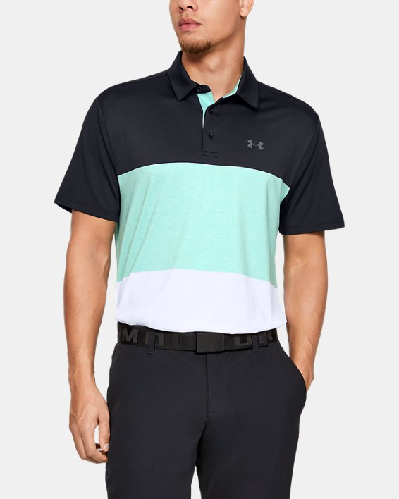 Men's UA Playoff Polo 2.0, Black, pdpMainDesktop image number 0