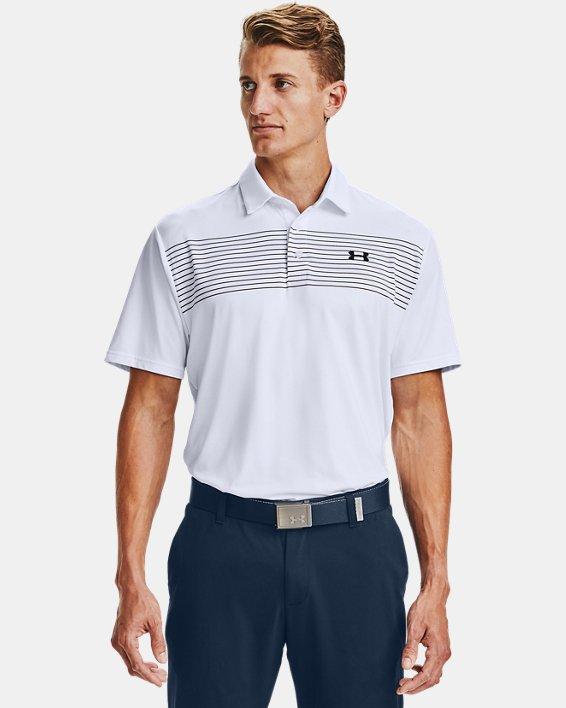 Men's UA Playoff Polo 2.0, White, pdpMainDesktop image number 0