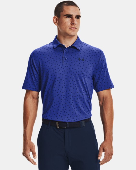 Men's UA Playoff Polo 2.0, Blue, pdpMainDesktop image number 0