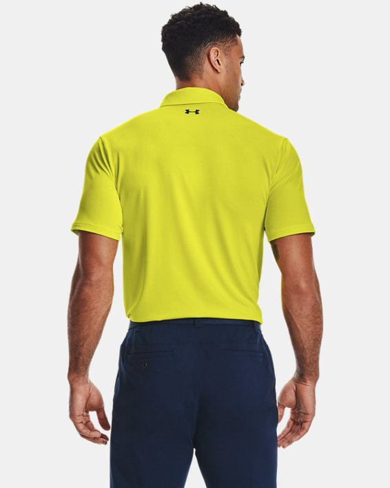 Men's UA Playoff Polo 2.0, Yellow, pdpMainDesktop image number 2