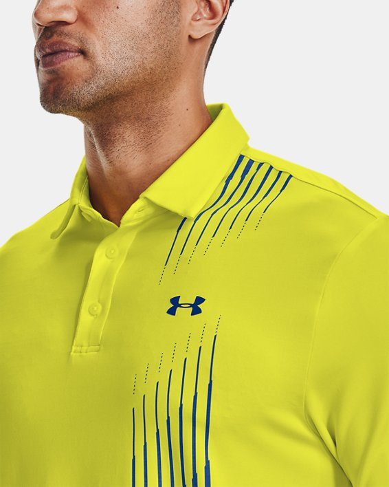 Men's UA Playoff Polo 2.0, Yellow, pdpMainDesktop image number 5