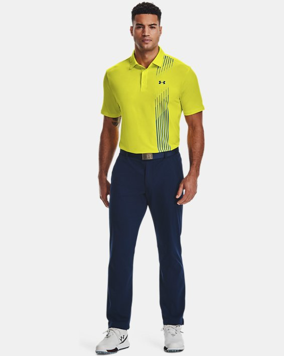 Men's UA Playoff Polo 2.0, Yellow, pdpMainDesktop image number 1